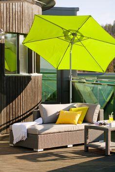 Polaris-divaanipala ja Ocean-aurinkovarjo ovat täydellinen yhdistelmä auringossa oleiluun!