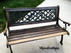 Come see what I did with this old bench for DIY yard decor.