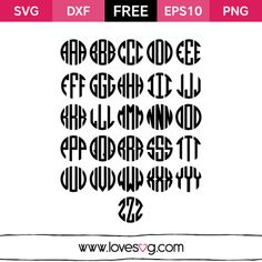 Monogram Love SVG - Free Monogram Font - LoveSVG