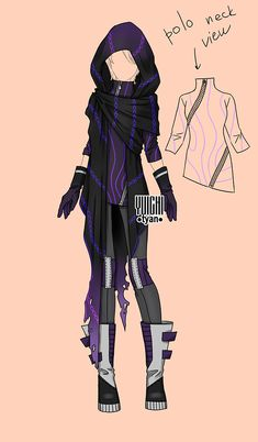 [closed] Auction post apocalypse Outfit 181 by YuiChi-tyan on DeviantArt Super Hero Outfits, Super Hero Costumes, Fashion Design Drawings, Fashion Sketches, Warrior Outfit, Villain Costumes, Drawing Anime Clothes, Clothing Sketches, Superhero Design