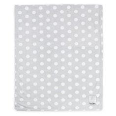 Love by Little Giraffe Silky Dot Blanket, Silver