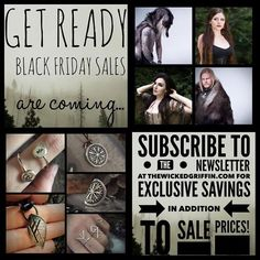 Biggest sales of the year are coming to thewickedgriffin.com this Friday  subscribe to the newsletter to receive EXCLUSIVE coupons to be used in addition to the sale prices. Link to subscribe is on my profile or visit thewickedgriffin.com homepage. Reminder email with coupon codes will be sent out this Thursday  - thewickedgriffin.com