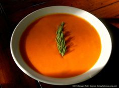 "I made this ""Tomato Bisque"" tonight for dinner with Roma tomatoes from our garden. It's such an easy recipe and made with Coconut Milk and NOT Cream! Get the RECIPE PRINT OUT:  http://simplydeliciousliving.com/?p=5322"