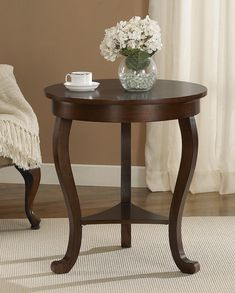 Metropolitan Round Side Table Espresso  Espresso Rounding And Cool Side Tables For Living Room Decorating Design