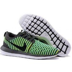 Roshe Two Low Flyknit Shoes Green Yellow Black White - Roshe Run