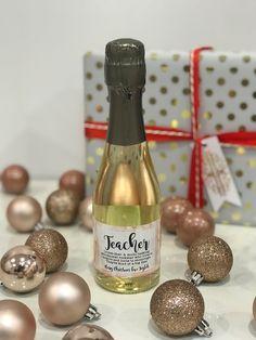 Personalised Christmas Wine Labels Teachers Gift Present Santa Teacher Definition