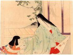 Lotto 00184 N.1 xilografia ukiyo-e  Mizuno Toshikata  SENTIERI DI MAGGIO  Anno: 1899 Condizioni: ottime Dimensioni: 29 x 22 cm
