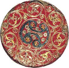 Sutton Hoo hanging bowl detail