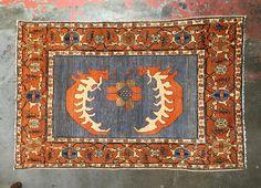 Vintage Persian Rug 4 x 6 Coastal Style Boho Floor Art Rug Placement, Floor Art, Coastal Style, Persian Rug, Tribal Rug, Textile Art, Oriental Rug, Kilim Rugs, Rugs On Carpet