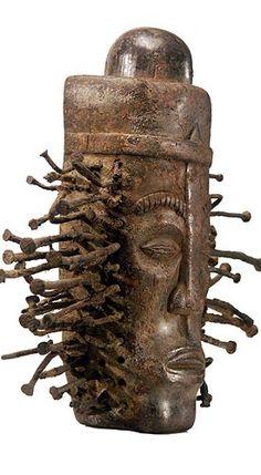 Bakongo Head Fetish, Congo