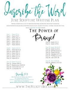 Inscribe The Word Scripture Writing June 2017