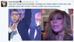 bts gaon chart awards. ynwa. you never walk alone. bts memes. namjoon. twitter.