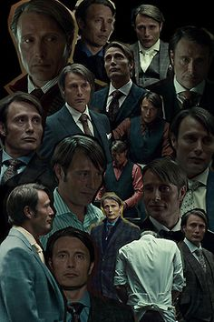 Hannibal Lecter collage from Hannibal TV show, 2013