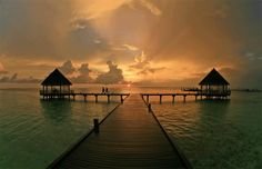 Maldives - sunset... In LOVE!