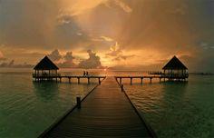 Maldives - sunset... In LOVE!