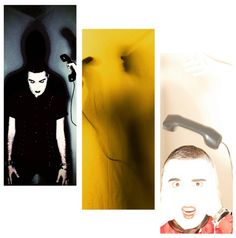 """3 symbolic pictures taken from the backstage of the first single of the album """"CALLS TO THE DEAD PHONE"""""""