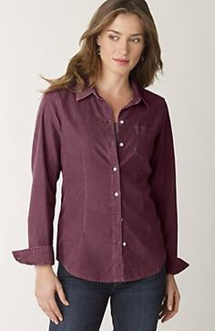 Shaped pincord shirt I have to have