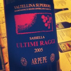 A great #wine from winery AR.PE.PE which made a wonderful conclusion of our journey at #cantineaperte #winelove #valtellina