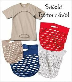 Ideias de decoração barata para fazer já Sewing Hacks, Sewing Tutorials, Sewing Tips, Tutorial Sewing, Shirt Tutorial, Basic Sewing, Tutu Tutorial, Purse Tutorial, Sewing Basics