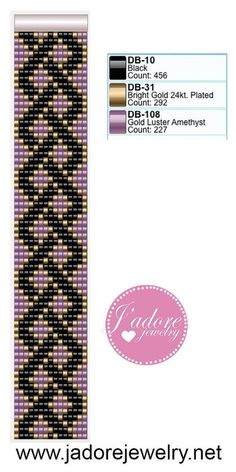 Beaded loom bracelet pattern,