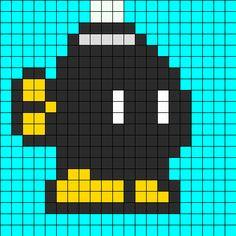 Mario Bomb bead pattern