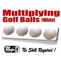 Multiplying Golf Balls (white) by Mr. Magic - Here is a great twist on the classic 'Multiplying Ball' routine. This classic can now be done with golf balls! Designed rough surfaces of the balls make these balls very easy to work with. They appear as a miniature set of golf balls. We supply a set of four regular balls and the special gimmick, as required for any classic ... get it here: http://www.wizardhq.com/servlet/the-13528/multiplying-golf-balls-white-by-mr-magic/Detail?source=pintrest