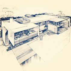 House Sketch México Architecture