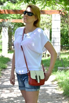 LEATHER Crossover Bag, Leather Colored Handbag,Shoulder Bag, Crossover Bag, Leather Bag