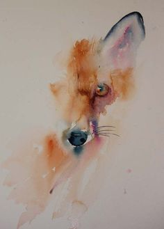 The Magic of Watercolour Painting Virtual Gallery - Jean Haines, Artist - Animals La magie de Aquarelle Peinture Galerie virtuelle - Jean Haines, Artiste - Animaux Watercolor Animals, Watercolor Art, Watercolor Fox Tattoos, Watercolour Flowers, Watercolour Paintings, Fuchs Illustration, Fox Art, Animal Paintings, Painting & Drawing