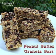 Peanut Butter Granola Bars - Juggling Act Mama