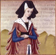 LXXVI-Sempronia, fille de Gracchus (SEMPRONIA, sister of the Gracchus) -- Giovanni Boccaccio (1313-1375), Le Livre des cleres et nobles femmes, v. 1488-1496, Cognac (France), traducteur anonyme. -- Illustrations painted by Robinet Testard -- BnF Français 599 fol. 65v