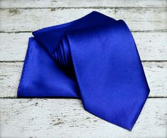 Slips. TiePocket Square. Royal Blue Tie Set. Royal Tie with by Tietle, $21.00