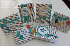 May 2015 Paper Pumpkin: Alternate card designs by Andrea Borries (MN, U.S.)