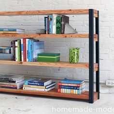 Industrial Chic Bookshelf from Hardware Store Parts Rustic Furniture, Home Furniture, Modern Furniture, Furniture Ideas, Furniture Removal, Furniture Movers, Furniture Refinishing, Furniture Stores, Furniture Design