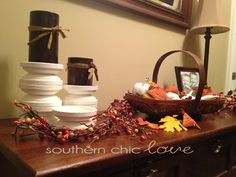 Southern Chic Love: diy candle holders love it! Clay pigeons