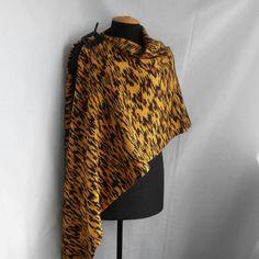 Shawl / wrap in tiger colors shawl wrap cowl, $75.00
