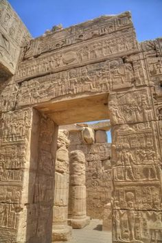 Doorway in the Temple of Khonsu Karnak Temple Luxor Thebes UNESCO World Heritage Site Egypt North Africa Africa Ancient Egyptian Art, Ancient Ruins, Ancient History, Egyptian Things, Mayan Ruins, European History, Ancient Artifacts, Ancient Greek, Architecture Antique