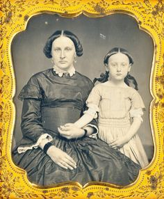 Mom and Daughter Daguerreotype by Mirror Image Gallery, via Flickr
