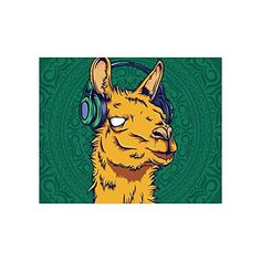 Cute Hipster Llama Collage Poster Paper Print Wall Art Living Room Home Office Decor 20 x 16 -- Read more reviews of the product by visiting the link on the image.
