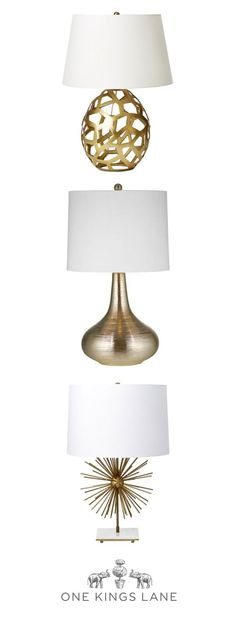 What a bright idea! Add a touch of gilded glam to any room in your home with a new gold light fixture that's perfect for bringing out your unique interior design style. Start shopping our newest gold table lamps and desk lamps here.