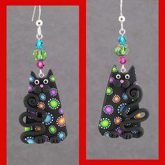 Black Carnival Cat Earrings | Flickr - Photo Sharing!