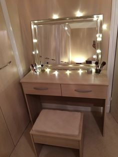 Fairy Light Dressing Table On A Budget! Dressing Table   Argos, Mirror   Bu0026M