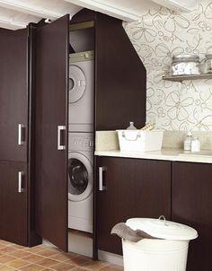 Muebles laminados en pinterest pintando muebles for Mueble lavadora secadora