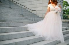 Plus Size  Blush Wedding Dress  Custom by ImogenInTheMeadow