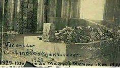 Yunan ordusunun geri çekilirken tahrip ettiği Ertuğrul Gazi Türbesi. Söğüt,Bilecik.1922
