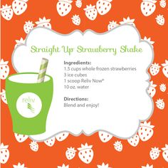 This Straight Up Strawberry Shake with Reliv Now will keep you cool all summer long!
