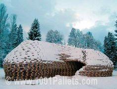 1300 Pallets Pavilion ! #Architecture, #Pallets