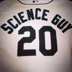 Bill! Bill! Bill! Bill! Bill! The Science Guy threw out tonight's first pitch.
