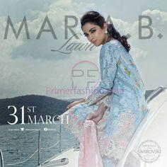 Maria b lawn collection 2016 http://www.primerfashion.com/maria-b-lawn-collection-2016/ #Mariab #lawn #HamzaAliAbbasi #MayaAli