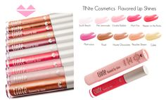 TINte Cosmetics Flavored Lip Shine / Flavored lip glosses.  10 delicious flavors all enriched with nourishing Shea Butter Best lip gloss for chapped lips1  #cosmetics #flavoredlipgloss